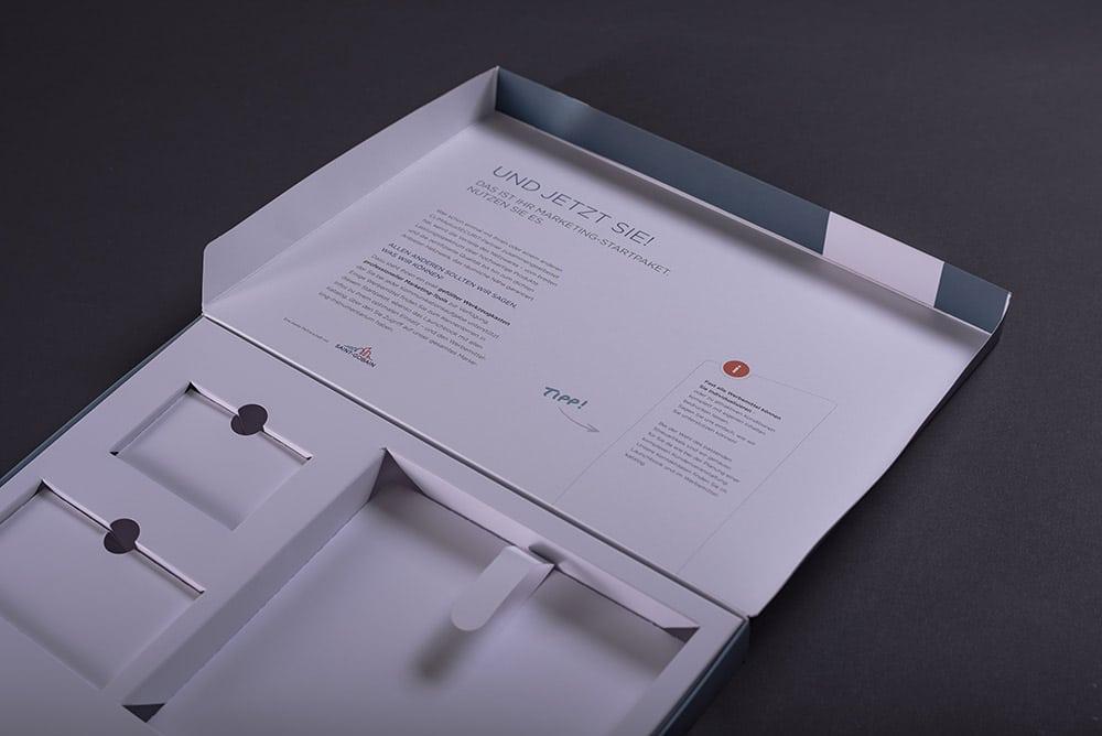 hochwertig gedruckte Präsentationsbox