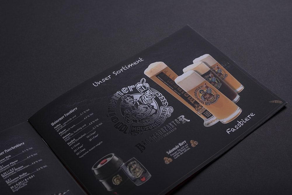 Broschüre einer Brauerei gedruckt