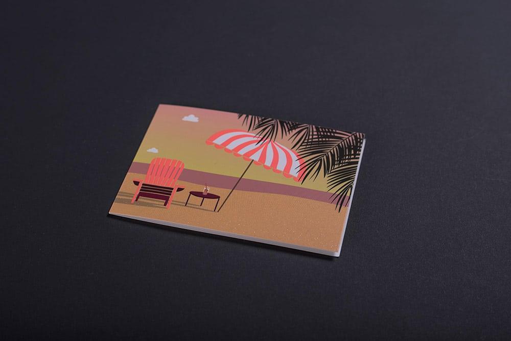 Grußkarte mit Strukturlack veredelt und gedruckt