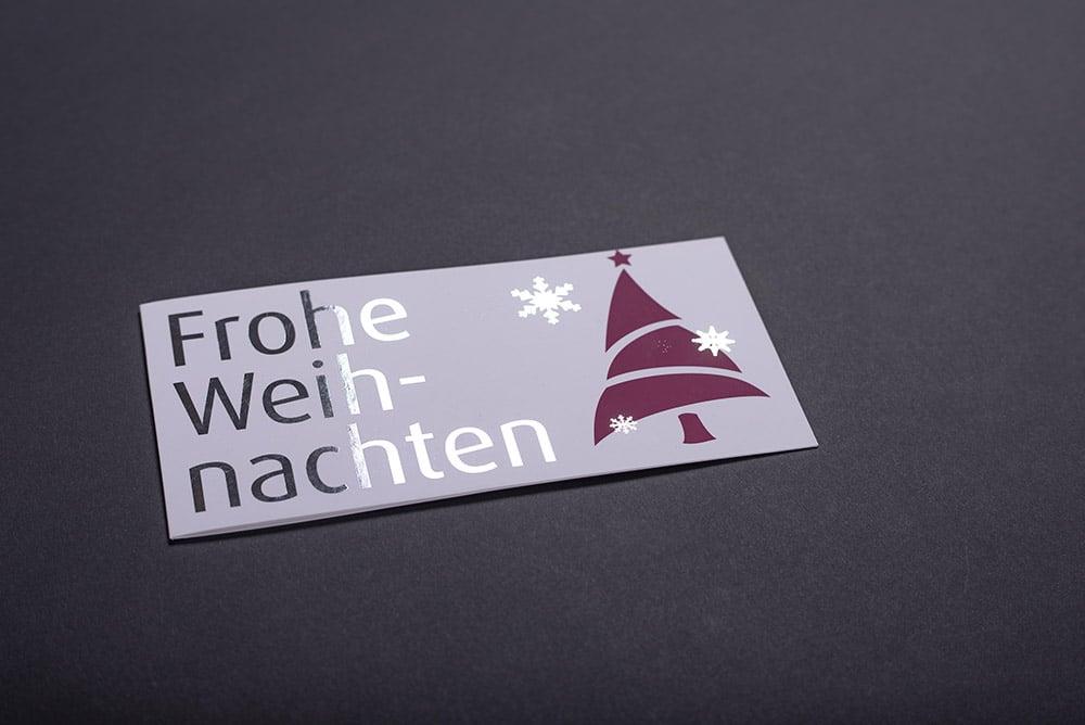 Weihnachtskarte Softtouch und Silberfolie