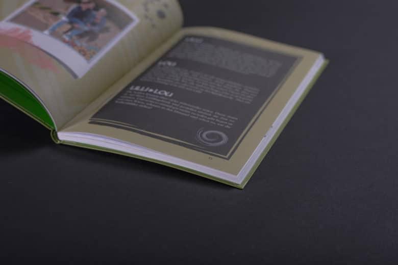 Jugendbuch mit flexiblem Hardcover