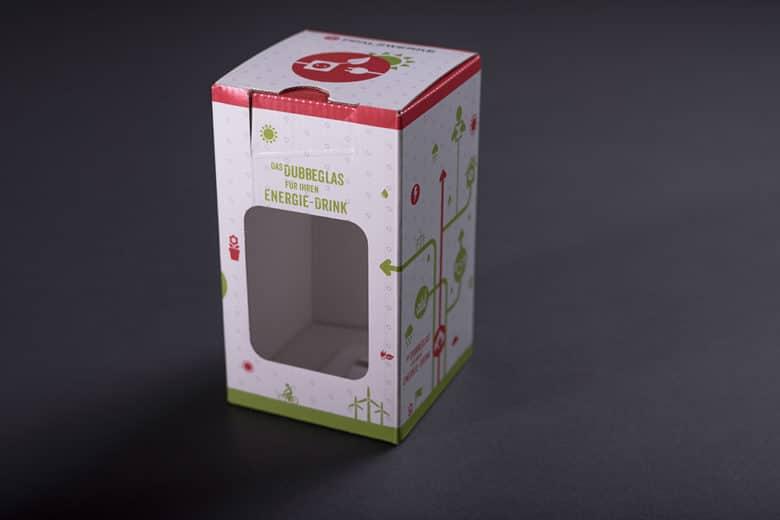 Verpackung 'Dubbeglas'