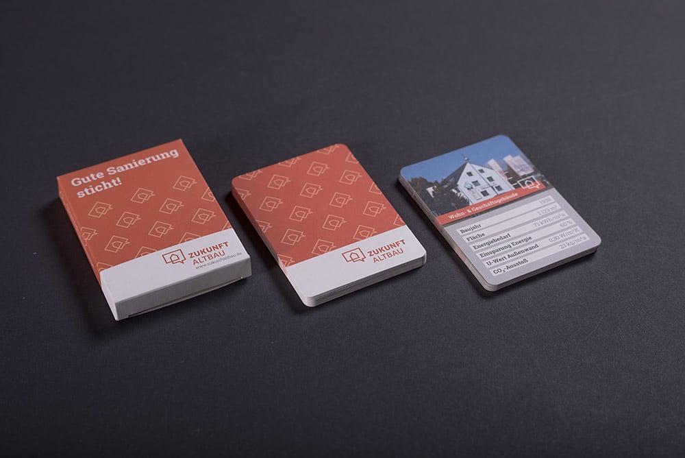 Spielkartenset von Druckerei gedruckt