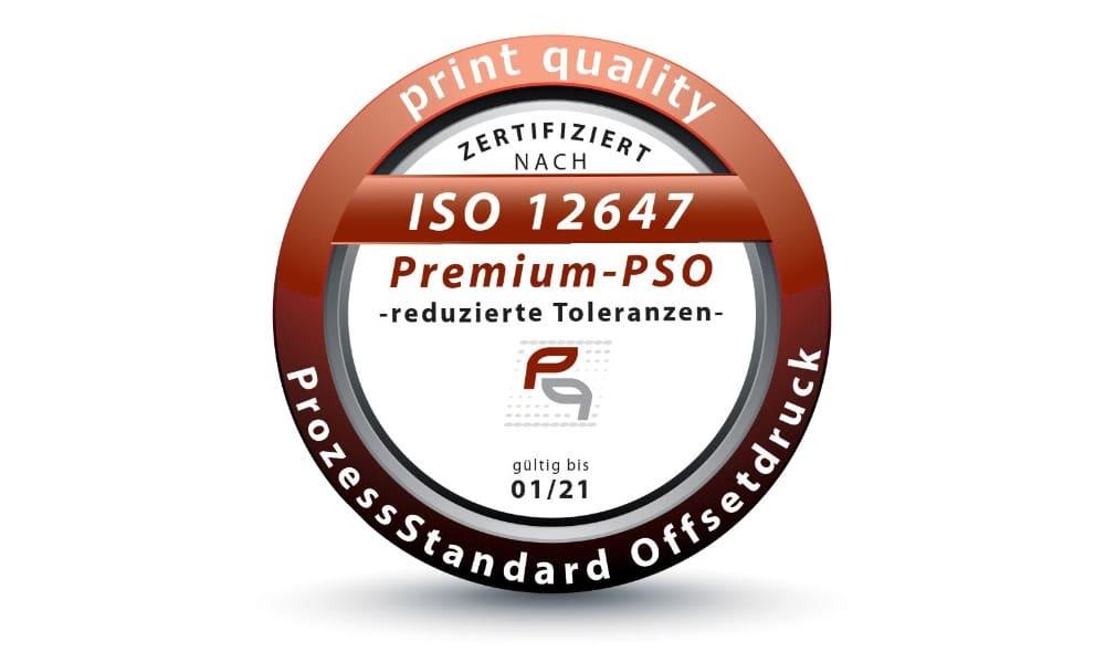 Premium-PSO-Zertifizierung bescheinigt höchste Druckqualität