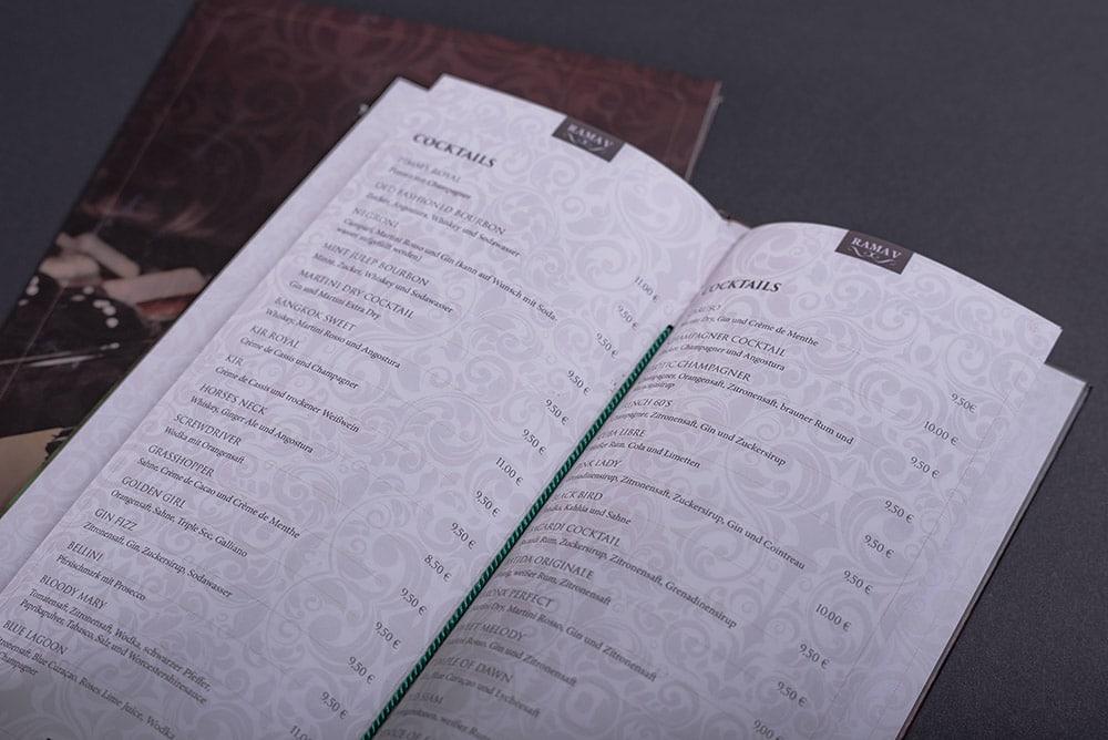 Speise- und Cocktailkarte