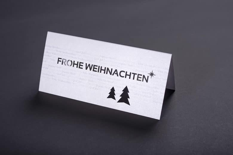 Weihnachtskarte – Metallic und Stanzung