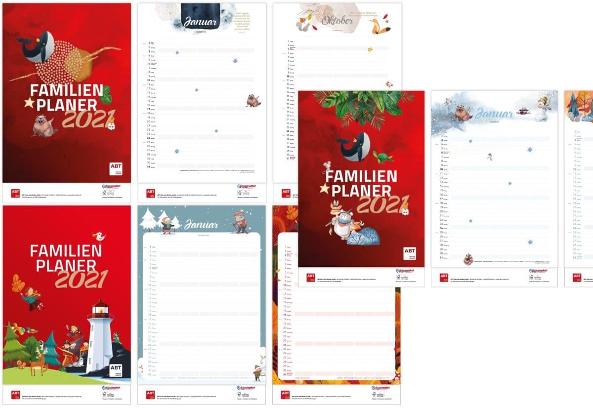 Kollage Familienplaner mit 3 verschiedenen Designs