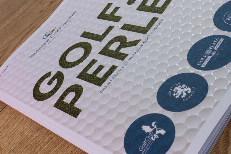 Gestaltung & Druck des GOLF.PERLE Magazins